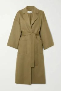 Loewe - Belted Wool And Cashmere-blend Coat - Green