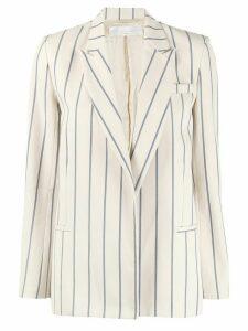Victoria Victoria Beckham striped single-breasted blazer - NEUTRALS