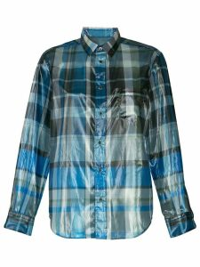 Toga foil plaid shirt - Blue