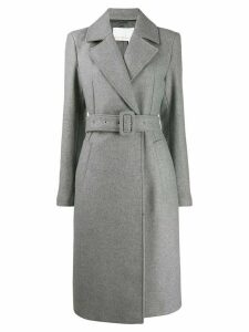 Remain Nima belted double-breasted coat - Grey