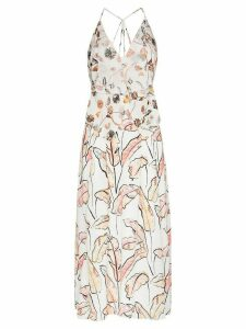 Roland Mouret Tolima ruffled floral print dress - White