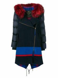 Mr & Mrs Italy fur hooded parka - Blue