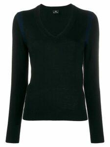 PS Paul Smith shoulder trim slim-fit jumper - Black