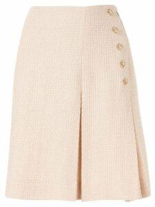 Edward Achour Paris woven A-line skirt - Neutrals