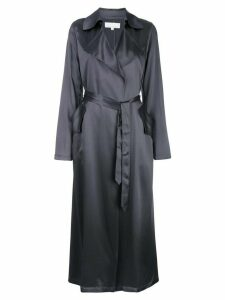 Fleur Du Mal relaxed-fit silk trenchcoat - Grey
