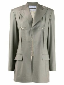 Situationist cut-out single-breasted blazer - Grey