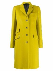 Paul Smith single-breasted midi coat - Yellow