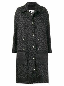Diesel animal print coat - Black