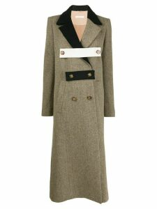 Ssheena button-band double-breasted coat - Brown
