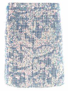 Nicole Miller sequin embellished skirt - Blue