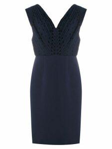 À La Garçonne polka dot pleated dress - Blue