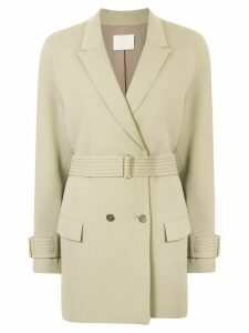 Dion Lee Cady cocoon coat - Green