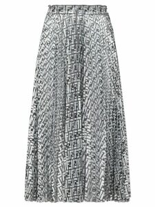 Fendi Fendi Prints On monogram midi skirt - SILVER