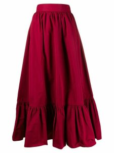 Valentino pleated hem A-line skirt - Red