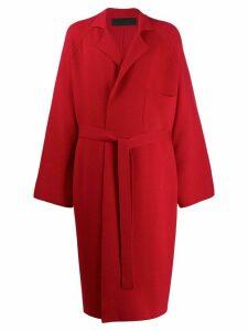 Haider Ackermann longline coat - Red