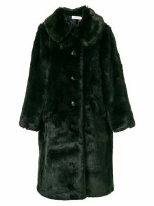 Tory Burch faux fur coat - Green