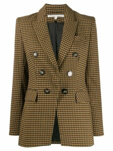 Veronica Beard double breasted houndstooth coat - Brown