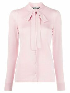 Dolce & Gabbana pussycat bow long-sleeved blouse - PINK