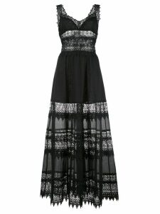 Charo Ruiz lace embellished flared Sophia dress - Black