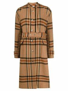 MRZ plaid broadcloth coat - NEUTRALS