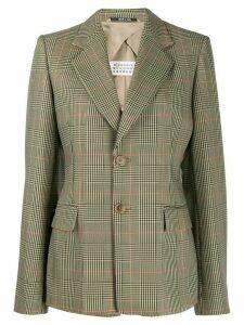 Maison Margiela check print blazer - NEUTRALS
