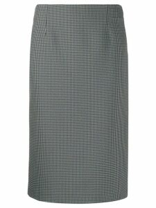 Maison Margiela houndstooth pencil skirt - Black