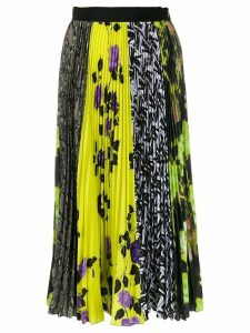 MSGM panelled pleated skirt - Yellow