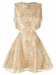 Alice McCall metallic floral lace dress - GOLD