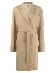 Filippa-K Amie belted mid-length coat - NEUTRALS