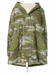 Mr & Mrs Italy printed hooded parka - Green