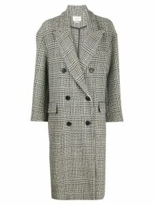 Isabel Marant Étoile check print coat - Black