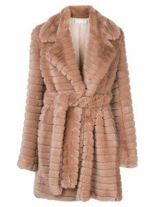 Fleur Du Mal panelled faux fur coat - PINK
