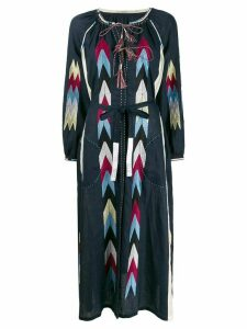 Vita Kin Arizona embroidered linen dress - Blue