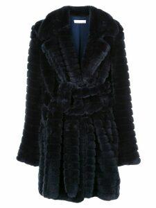 Fleur Du Mal panelled faux fur coat - Blue