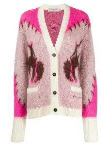 Golden Goose intarsia knit cardigan - PINK