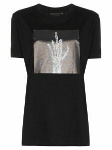 Browns X Sara Shakeel skeleton-print cotton T-shirt - Black