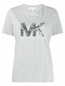 Michael Michael Kors metallic sequin-logo T-shirt - Grey