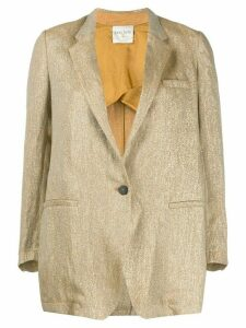 Forte Forte metallic thread blazer - GOLD