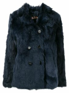 Nº21 double breasted boxy coat - Blue