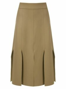 Gloria Coelho multiple slits skirt - NEUTRALS