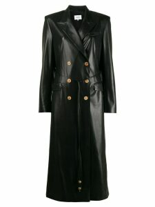Nanushka double-breasted fitted coat - Black