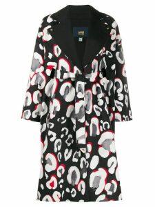 Cavalli Class oversized leopard-print coat - Black