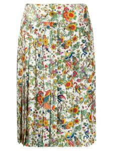 Tory Burch floral print pleated skirt - White