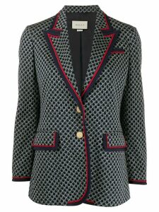 Gucci geometric G jacquard blazer - Blue
