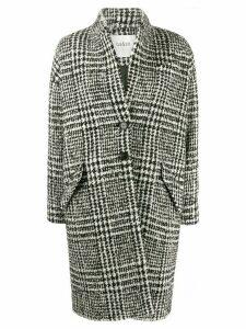 Ba & Sh Poris houndstooth coat - Black