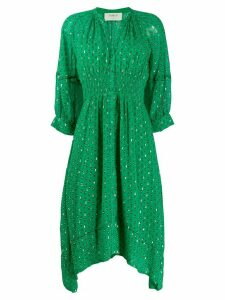Ba & Sh paisley print flared dress - Green