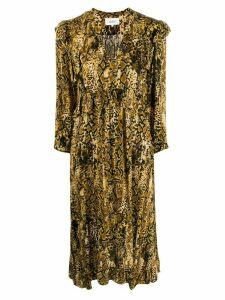 Ba & Sh Saha snakeskin print dress - Yellow