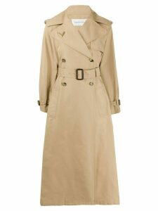 Valentino belted midi trench coat - NEUTRALS