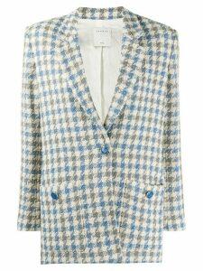 Sandro Paris Caliana houndstooth tweed blazer - Blue