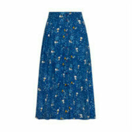 Snoopy Midnight Stars Button Through Midi Skirt